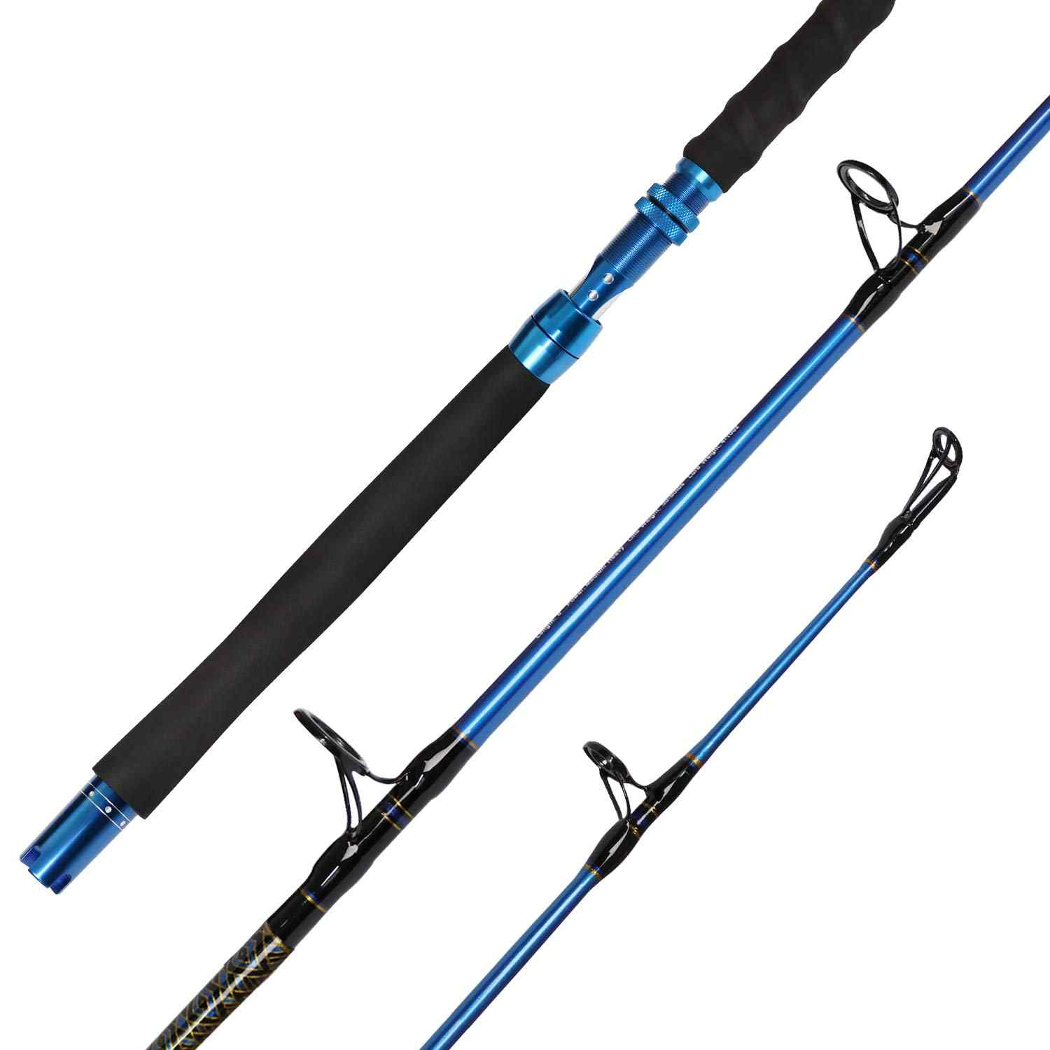 Fiblink 1-Piece Jigging Jig Spinning Ice Fishing Rod